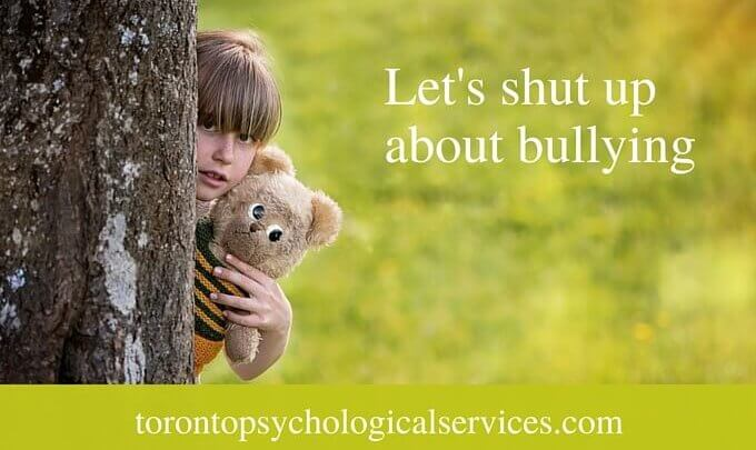 Let's shut up about bullying