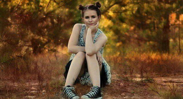 Teen girl in nature