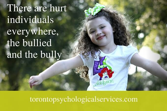 There are hurt individuals everywhere, the bullied and the bully