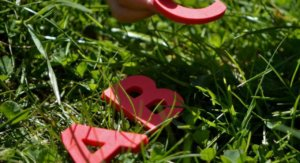Autism Assessment | A B C letters in grass