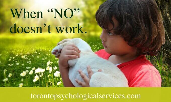 "Parenting children: when ""NO"" doesn't work."